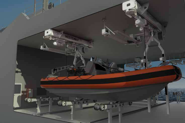 Unmanned Systems from Vestdavits modern warship and flexible coastguard cutters
